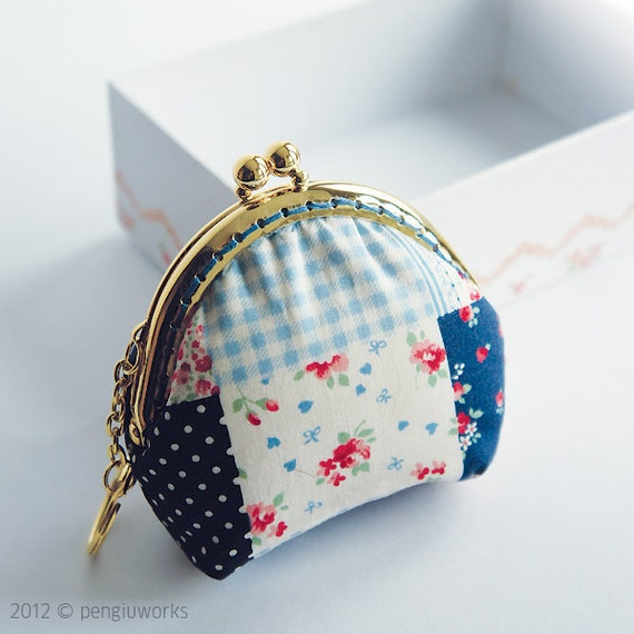Spring Series // Coin Purse // mixed pattern // blossom