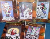 Enchanted Santas Series Beaded Tapestry Patterns Charts Susan Brack CHRISTMAS