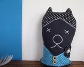 The Wardrope Keeper Cat - Textile Art Doll