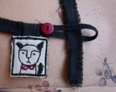 Mr. Tom-Cat- fabric pillow pendant necklace