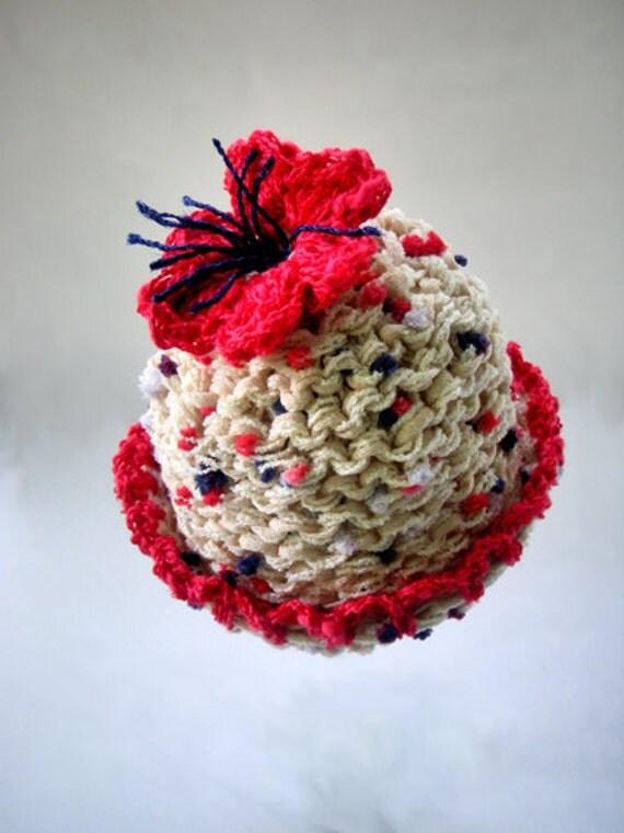 LAST Kids Newborn Hats Baby Girl Photography prop Handmade Knitting Crochet Infants Newborn Photo prop Red poppy