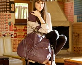 Glorianne weekend travel bag handmade with real leather.