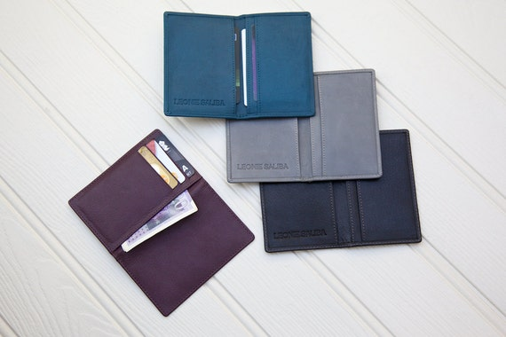 Caitlin Credit card wallet handmade for you with real leather.