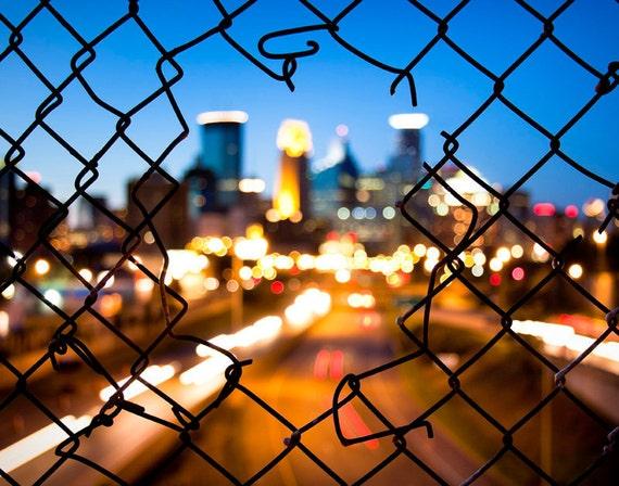 Downtown Minneapolis Photo at Dusk - 24x36