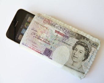 iPhone Case / iPhone Cover / iPhone Sleeve - Faux 20 British Pounds
