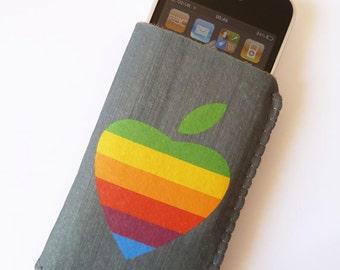 iPhone 7 Case, iPhone 6/6S Case - Rainbow Apple Heart Phone Case