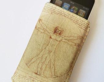 iPhone 7 Case, iPhone 6S Case, iPhone 6 Case, iPhone 5 Case, iPhone 7 Pouch, iPhone Case, Phone Case - Da Vinci Vitruvian Man