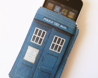 iPhone 5 iPhone 4S Case Sleeve Pouch British Police Box
