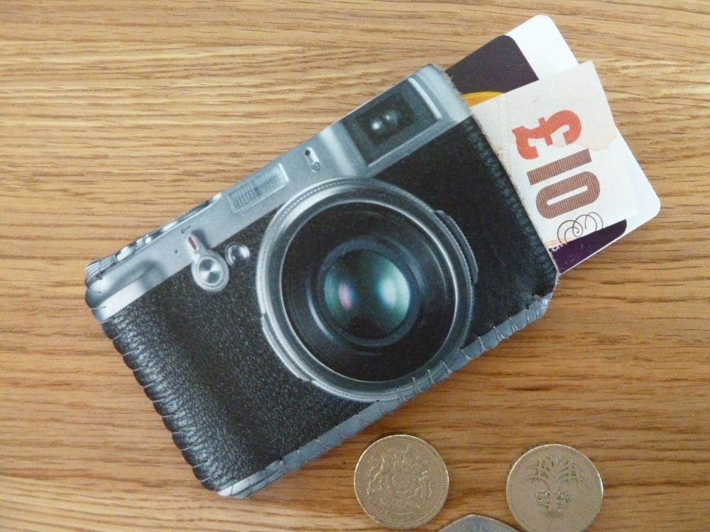 Business Card Case Retro Camera Fits Debit Credit Cards and
