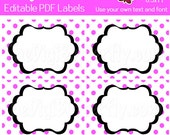 Julie Labels - EDITABLE PDF Labels - Add your own Text and Font -  Instant Download and Print