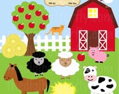 Barn Buddies Clip Art Set - Personal and Commercial Use - Digital Instant Download