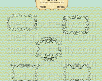 Victorian Transparent - Digital Clip Art Frames - Personal and Commercial Use - Digital Instant Download