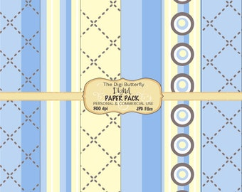 Blue Stitch - Digital Paper Pack - For Personal and Commercial Use - Digital Instant Download
