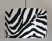 Zebra Drum Lamp Shade