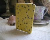 Business Card Holder- Sweet Bees On Yellow Fabric