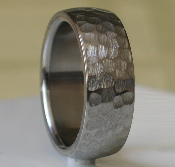 Titanium wedding band comfort fit custom designed by for Custom made wedding bands to fit engagement ring