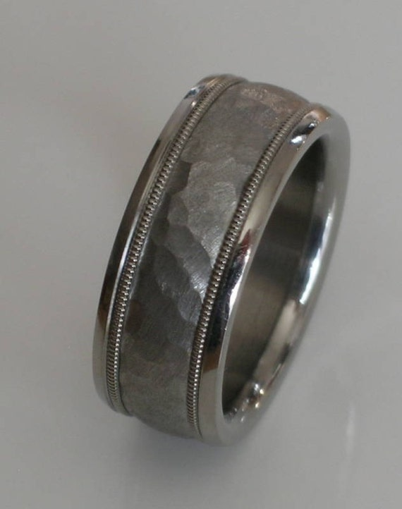 custom made tungsten and titanium comfort fit by usajewelry