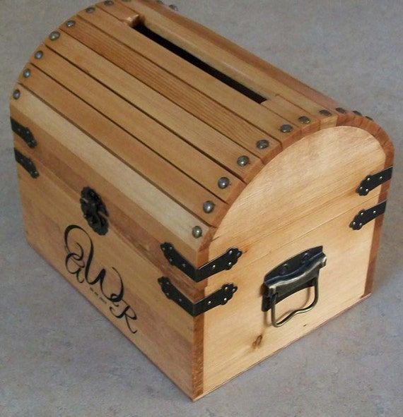 Wood Card Box Wedding Wooden Card Box Centerpiece |Wooden Chest For Wedding Cards