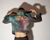 Made to Order. Hipster Unisex Hand Painted Space / Galaxy / Nebula Jacket (winter, fall, warm, trending, christmas)