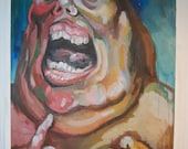 """Oil Painting on Paper: """"Experiment Gone Wrong"""""""