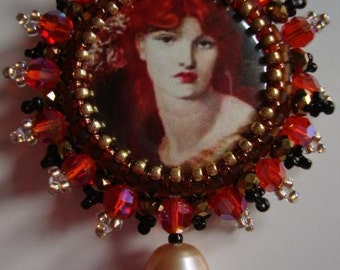 Pre Raphaelite Glam Brooch