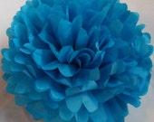 BOGO -  Large Tissue Paper PomPom - Pacific Blue
