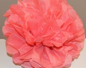 Island Pink Tissue Paper Pom Pom - Island Pink or your color choice