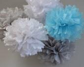 Tissue Paper Pom Poms Set of 5 - Wedding, Birthday Party, Baby Shower, Nursery
