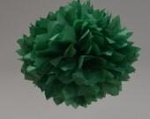 Holiday Green Tissue Paper Pom Pom Large
