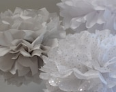 Tissue Paper Pom Poms or Tissue Paper Flowers diy wedding decorations set of 100- Your Colors