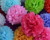 Tissue Paper Pompom Set of 50 - Your Colors - Wedding Decorations