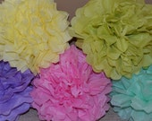 12 Tissue Paper Pompoms - Your Colors - Wedding, Birthday, Baby