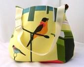 Modern birds shoulder bag, adjustable strap