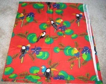 Quilter Quality Fabric - Parrots - Alexander Henry Collection - Out Of Print