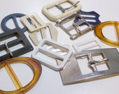 Vintage Buckles Various Sizes and Materials Set of 13