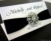Black and White Elegant Wedding Invitation - DEPOSIT