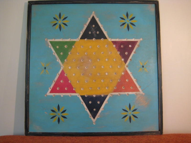 Antique Chinese Checkers Board Reproduction