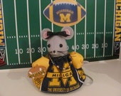 Michigan Wolverines, Ornament, U of M, University of Michigan, Fan Alumni, Go Blue Football Mouse