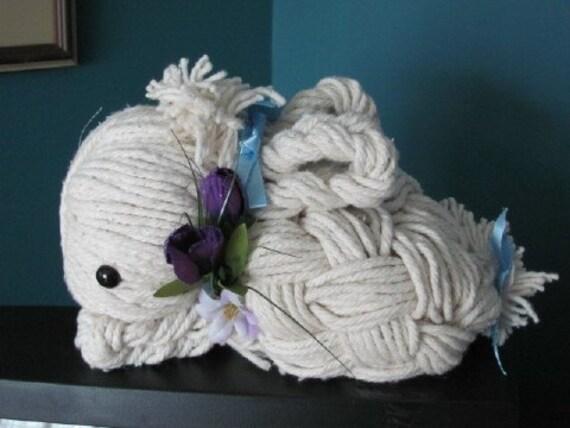 Handmade  Moppet Bunny/ Rabbit Mop Art