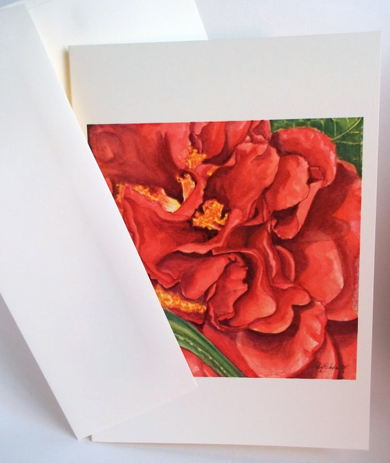 Card, Red Flower