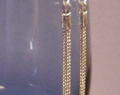 Baby Fine Silver Chain Repurposed Handmade Dangle Earrings