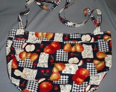 Market Shopping Tote Bag Purse Fabric Carry On Large Reusable Handbag Grocery Kitchen Double Strap Lined Fruit Abstract Floral
