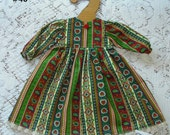 American Girl 18 inch Doll Madame Alexander What A Doll - Long Dress Long Sleeve Cotton Blend Fabric with Trim Bow Button Kids Playtime