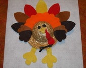Destash Crafts - Straw Hat Turkey Craft Kit Thanksgiving Fall Holiday Gobbler Harvest Festival Kids Crafts Activity Supplies