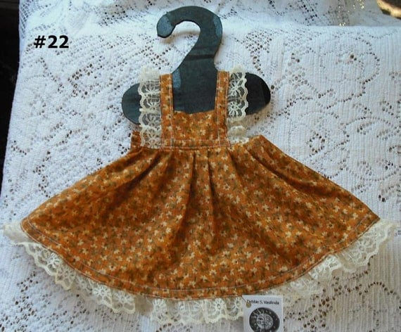 American Girl 18 inch Doll Madame Alexander What A Doll Pinafore Full Apron Jumper Cotton Blend Fabric Lace Trim Fashion Clothing Kids