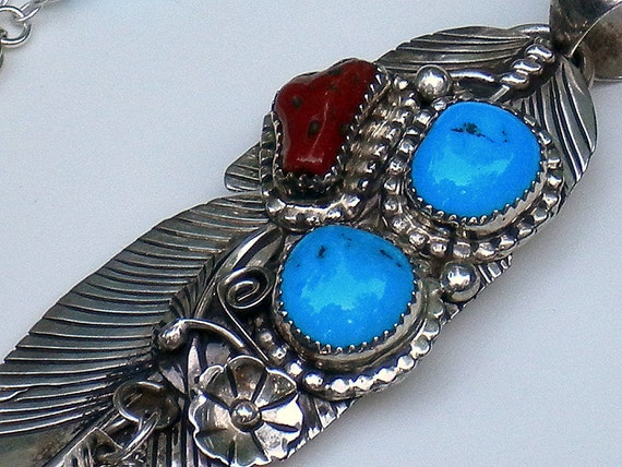 Sterling Silver Native American Feather Pendant