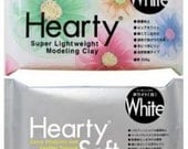 Hearty White/Hearty Soft/ light paper clay/Soft clay/Air dry clay/Hearty clay 200 gr, shipped directly from Japan
