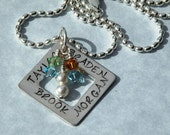 Mom of Four Boys Necklace