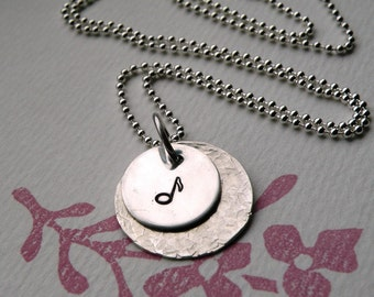 Music Note Simple Statement Necklace