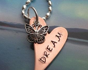 DREAM Copper Heart Necklace